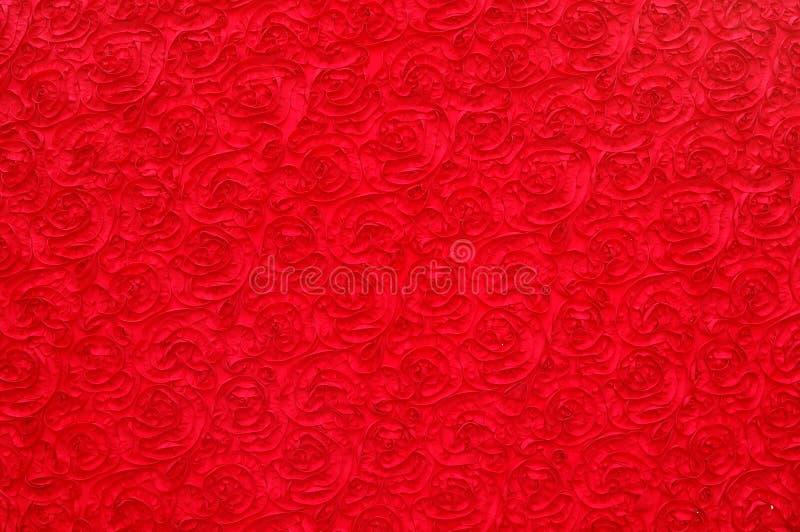 το κόκκινο προτύπων ανασκόπησης αυξήθηκε στοκ εικόνες