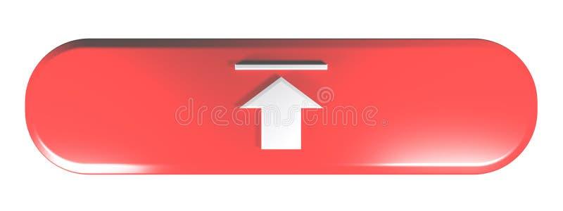 Το κόκκινο στρογγυλευμένο ορθογώνιο ΦΟΡΤΩΝΕΙ - τρισδιάστατη δίνοντας απεικόνιση διανυσματική απεικόνιση