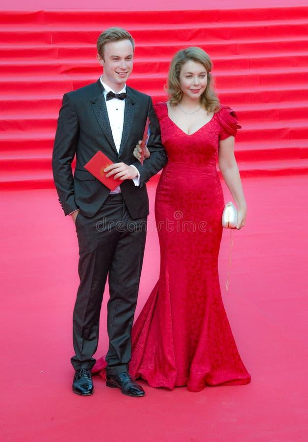 Το κόκκινο χαλί MIFF 38 - άνοιγμα του φεστιβάλ στοκ εικόνες με δικαίωμα ελεύθερης χρήσης