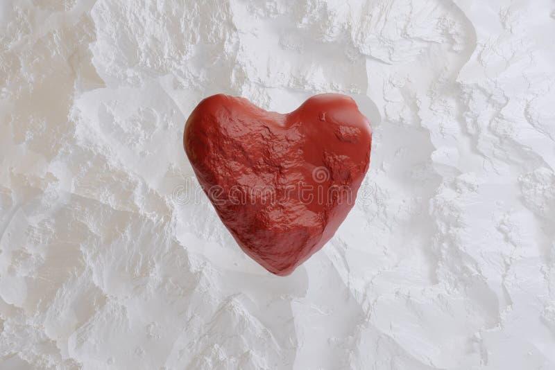 Το κόκκινο Levitating η καρδιά για την ημέρα του βαλεντίνου στοκ φωτογραφία με δικαίωμα ελεύθερης χρήσης