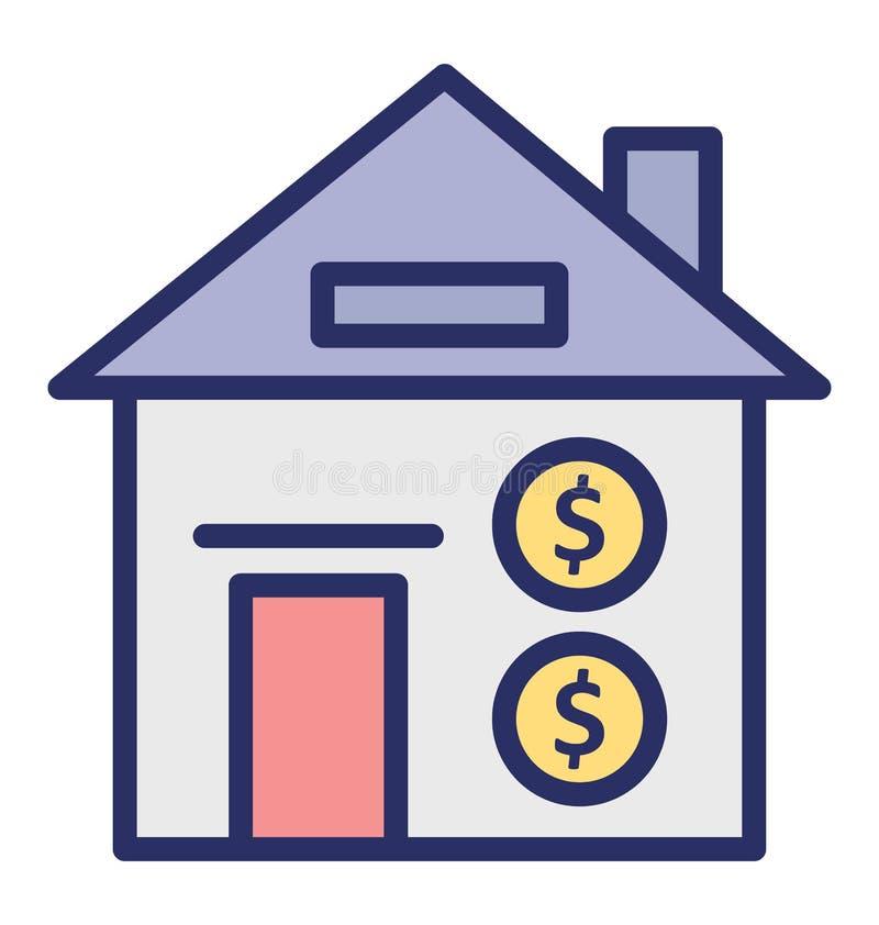 Το κόστος σπιτιών απομόνωσε το διανυσματικό εικονίδιο που μπορεί εύκολα να τροποποιήσει ή να εκδώσει το απομονωμένο κόστος διανυσ ελεύθερη απεικόνιση δικαιώματος