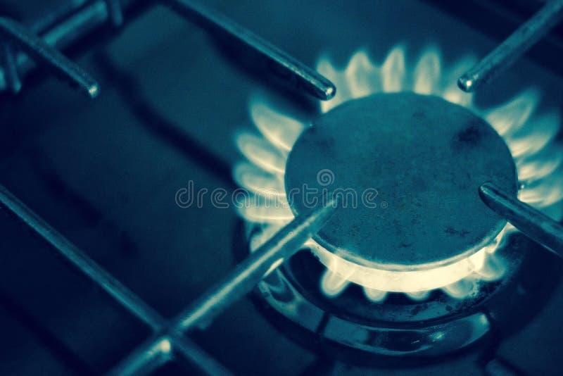 Το κόστος της υπηρεσίας αερίου στοκ εικόνες
