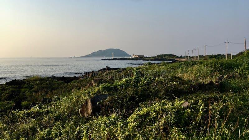 Το κόστος jeju-κάνει τη Νότια Κορέα στοκ φωτογραφίες