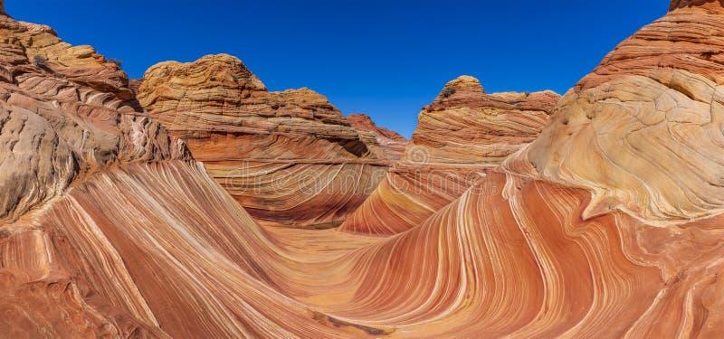 Το κύμα, λόφοι κογιότ, Αριζόνα, Ηνωμένες Πολιτείες στοκ φωτογραφίες