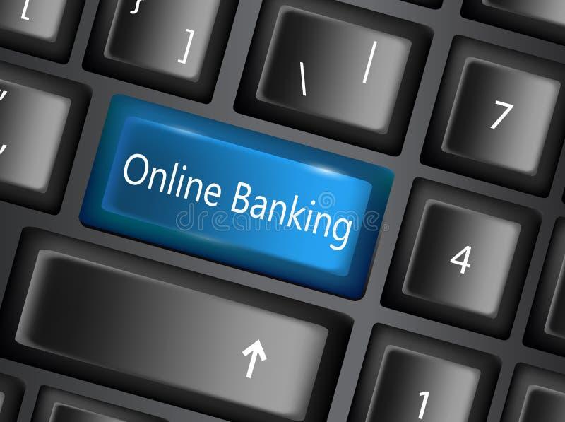 Το κλειδί πληκτρολογίων με εισάγει τις τραπεζικές εργασίες κουμπιών απεικόνιση αποθεμάτων