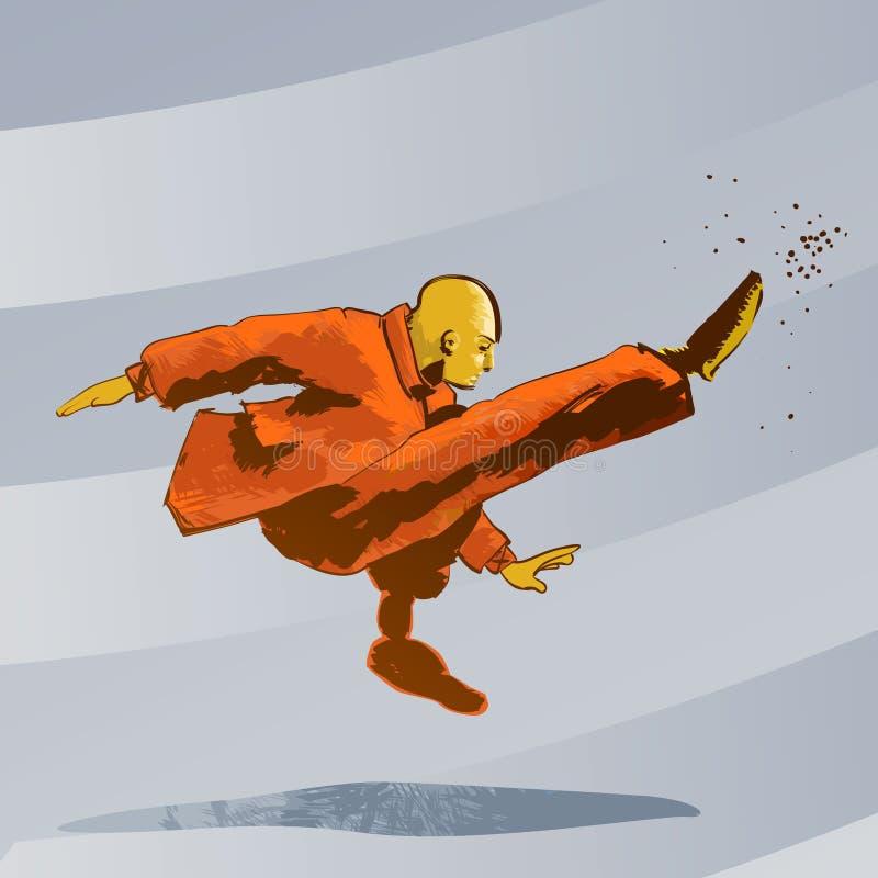 το λάκτισμα τεχνών fu kung κατε&ups στοκ εικόνα