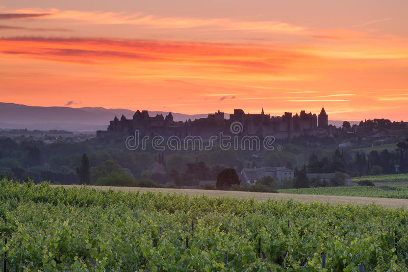 Το Λα αναφέρει το Carcassonne στοκ φωτογραφία με δικαίωμα ελεύθερης χρήσης