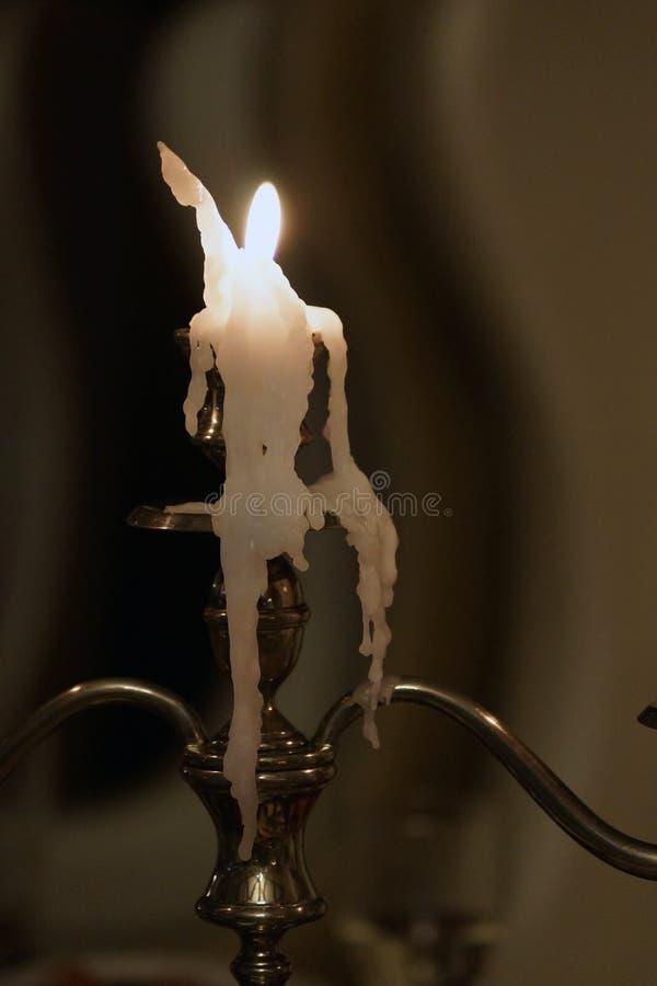 Το λειωμένο κερί έγινε ένας αριθμός του ατόμου στοκ φωτογραφία με δικαίωμα ελεύθερης χρήσης