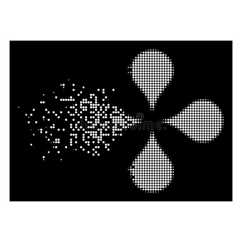 Το λευκό που αποσυντέθηκε διέστιξε το ημίτονο εικονίδιο δεικτών χαρτών ελεύθερη απεικόνιση δικαιώματος