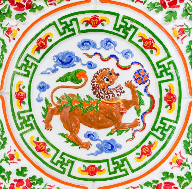 Το λιοντάρι ουρανού του ασιατικού πολιτισμού στοκ φωτογραφία με δικαίωμα ελεύθερης χρήσης