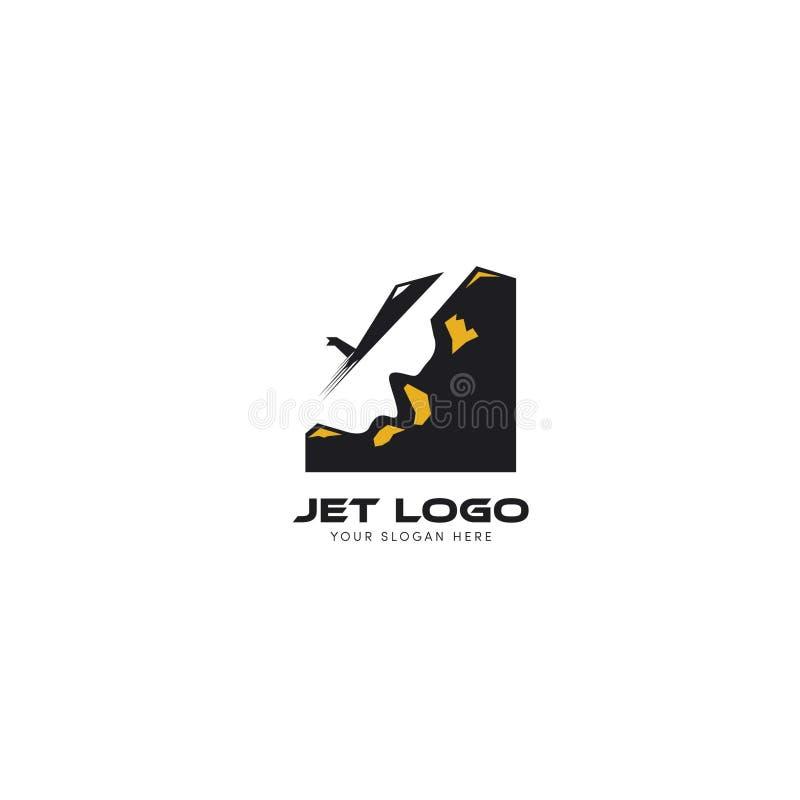 Το λογότυπο του Jet με την αφαίρεση από το λόφο ελεύθερη απεικόνιση δικαιώματος