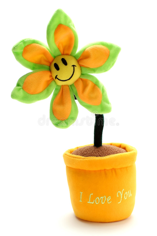 το λουλούδι ι σας αγαπά στοκ εικόνα με δικαίωμα ελεύθερης χρήσης