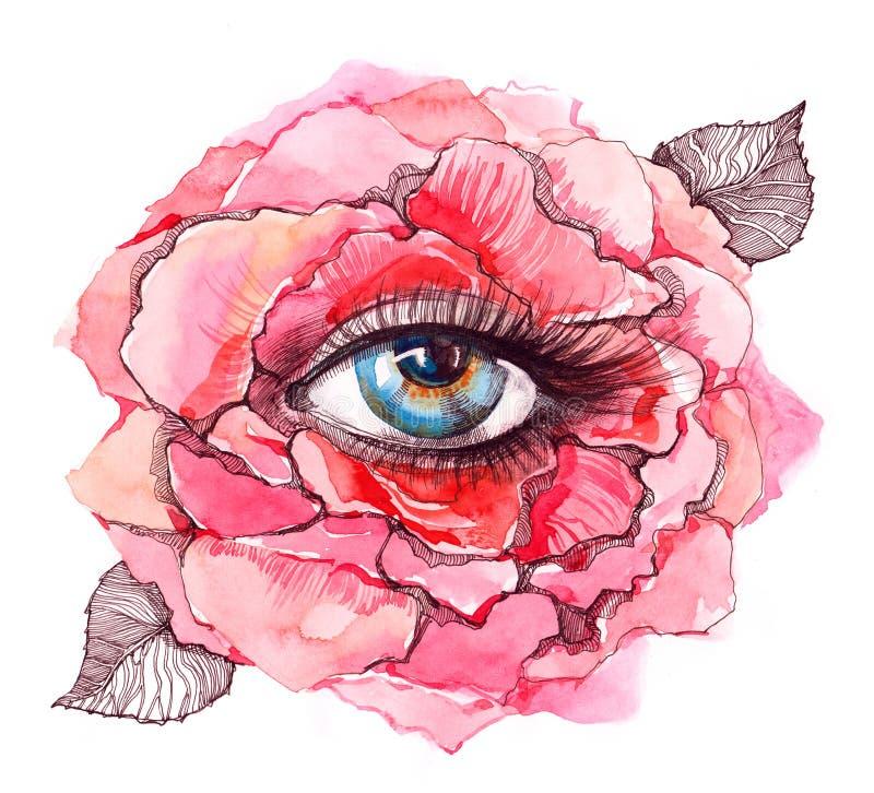 το μάτι μέσα αυξήθηκε διανυσματική απεικόνιση