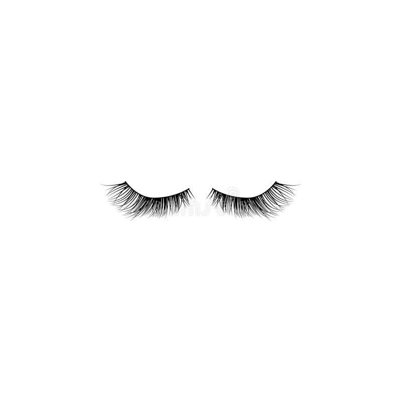 Το μάτι μαστιγώνει το διανυσματικό εικονίδιο απεικόνιση αποθεμάτων
