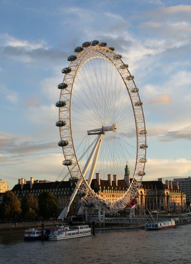 Το μάτι του Λονδίνου ψυχαγωγιών merlin στοκ φωτογραφία με δικαίωμα ελεύθερης χρήσης