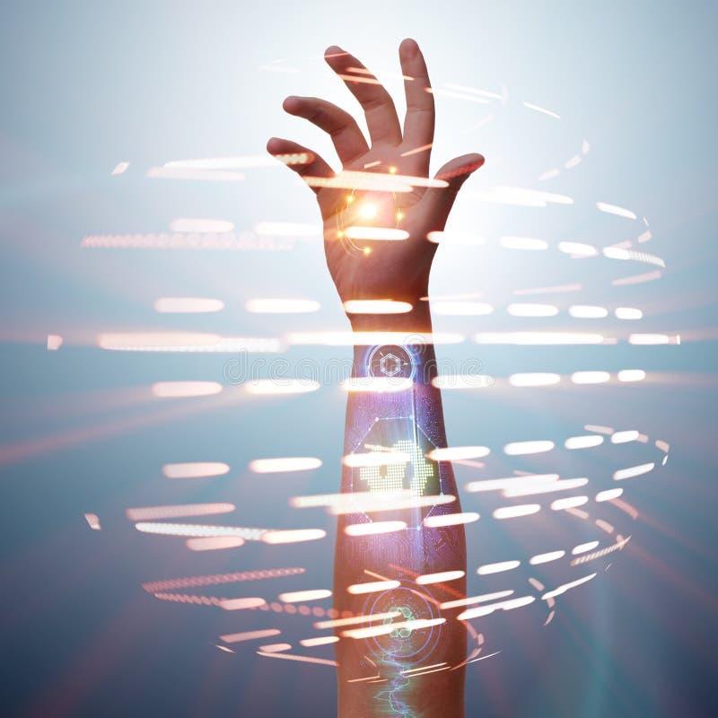 Το μέλλον των βιονικών πληρωμών στοκ εικόνες με δικαίωμα ελεύθερης χρήσης