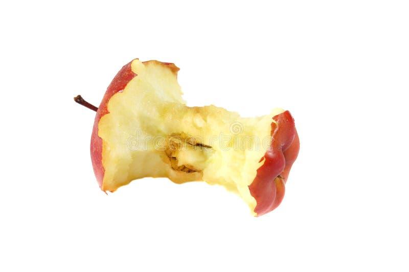 το μήλο πουφαγώθηκε το &lambd στοκ φωτογραφία