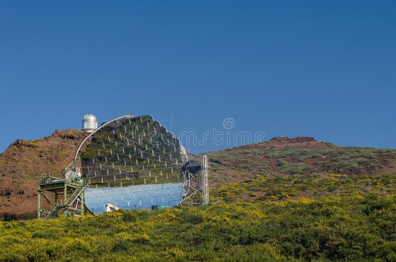 Το ΜΑΓΙΚΟ τηλεσκόπιο Roque de Los Muchachos Observatory, Λα PA στοκ εικόνες με δικαίωμα ελεύθερης χρήσης
