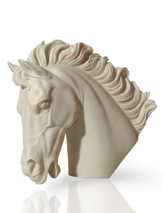 Μαρμάρινο γλυπτό ενός κεφαλιού του αλόγου στοκ εικόνες με δικαίωμα ελεύθερης χρήσης