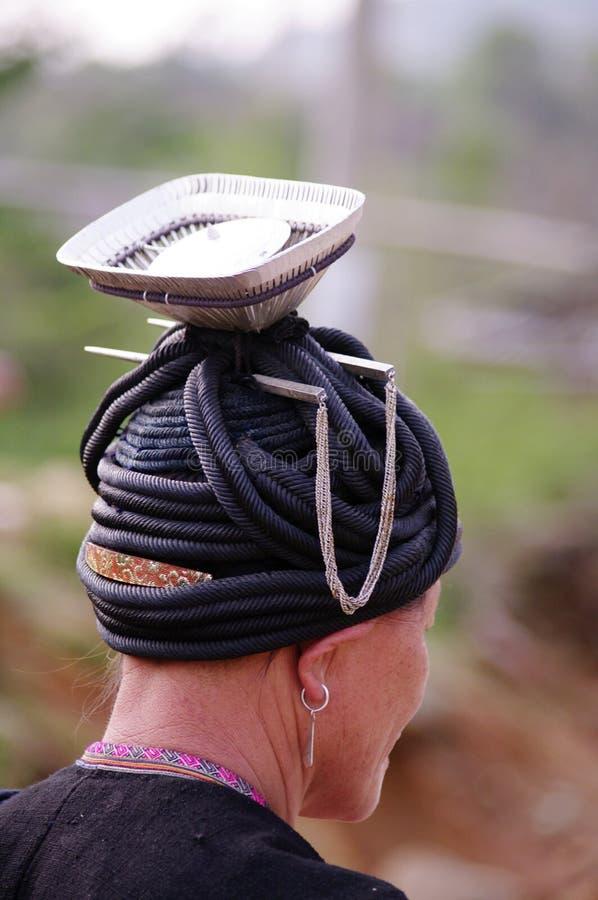 το μαύρο εθνικό καπέλο dao στοκ εικόνα με δικαίωμα ελεύθερης χρήσης