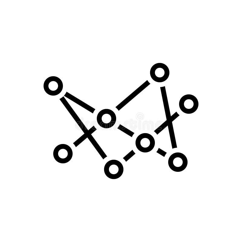 Το μαύρο εικονίδιο γραμμών για τη σύνδεση, συνδέει και κοινότητα ελεύθερη απεικόνιση δικαιώματος
