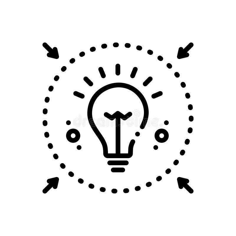 Το μαύρο εικονίδιο γραμμών για Denote, enlighte και ενημερώνει ελεύθερη απεικόνιση δικαιώματος