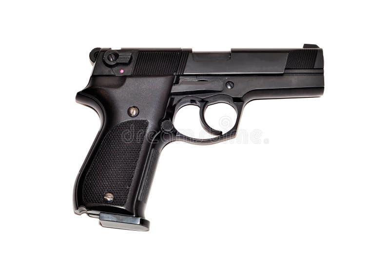 το μαύρο πυροβόλο όπλο απ&o στοκ φωτογραφίες