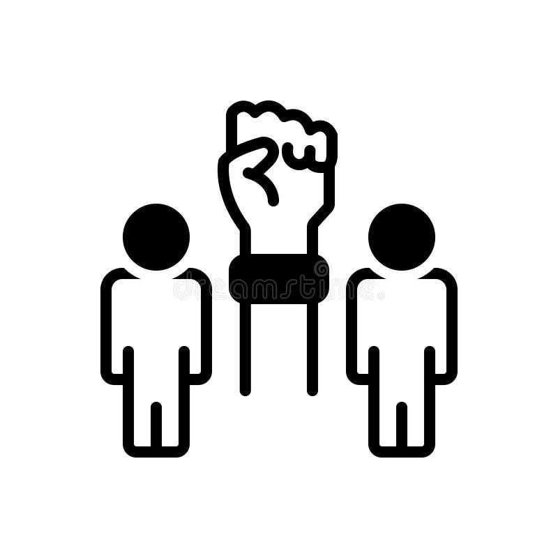 Το μαύρο στερεό εικονίδιο για τις πρωτοβουλίες, και να τροφοδοτήσει διανυσματική απεικόνιση