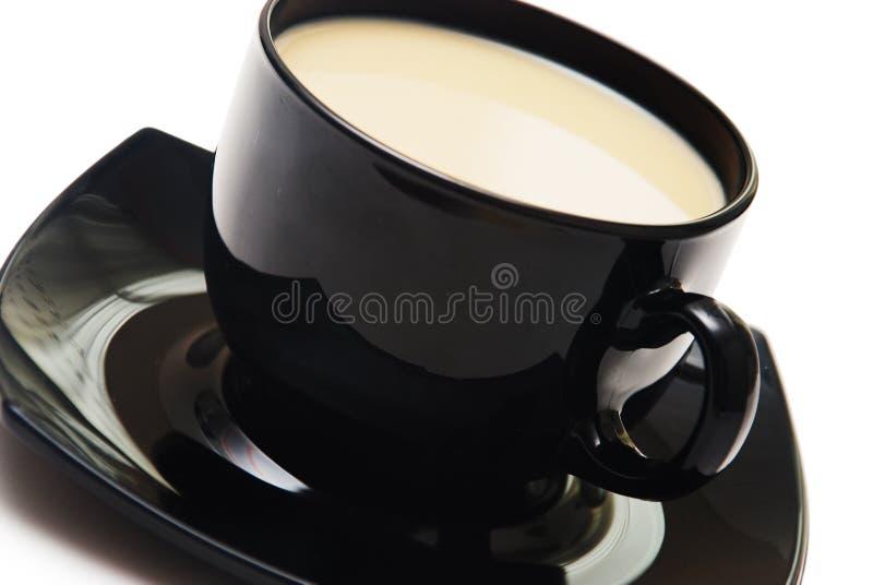 το μαύρο φλυτζάνι καφέ απο&m στοκ εικόνα