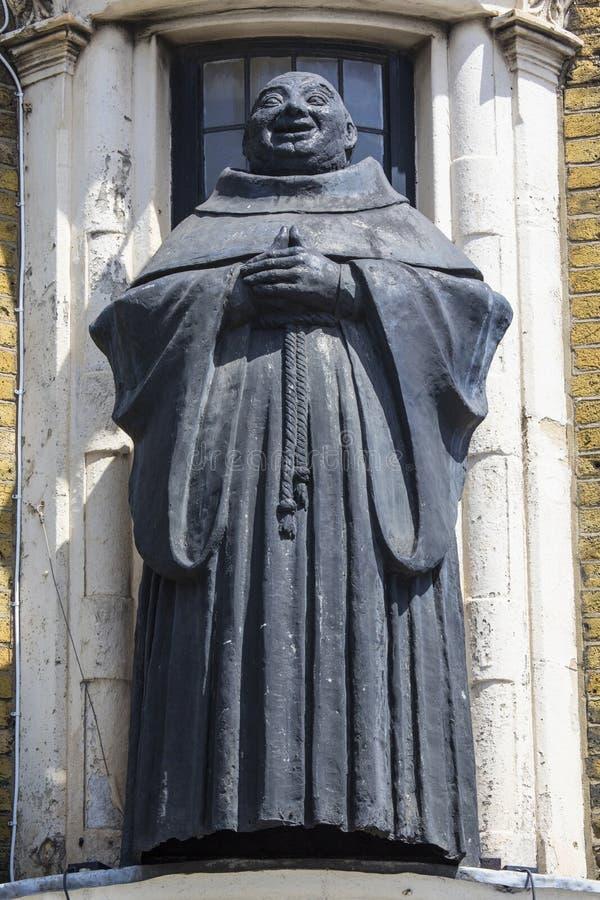 Το μαύρο Friar άγαλμα στο Λονδίνο στοκ εικόνα με δικαίωμα ελεύθερης χρήσης