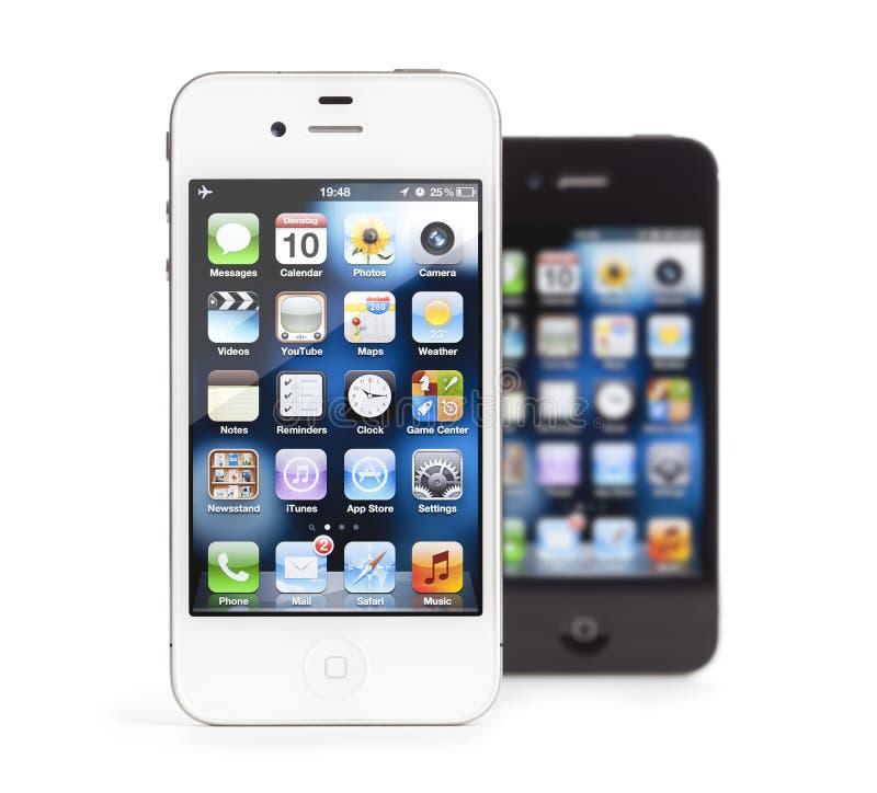Download το μαύρο Iphone 4 μήλων απομόνωσε & Εκδοτική Εικόνες - εικόνα από αντικείμενο, τηλέφωνο: 22790511