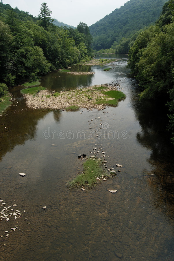 το μεγάλο δίκρανο εθνικό ο νότος ποταμών πάρκων στοκ φωτογραφίες