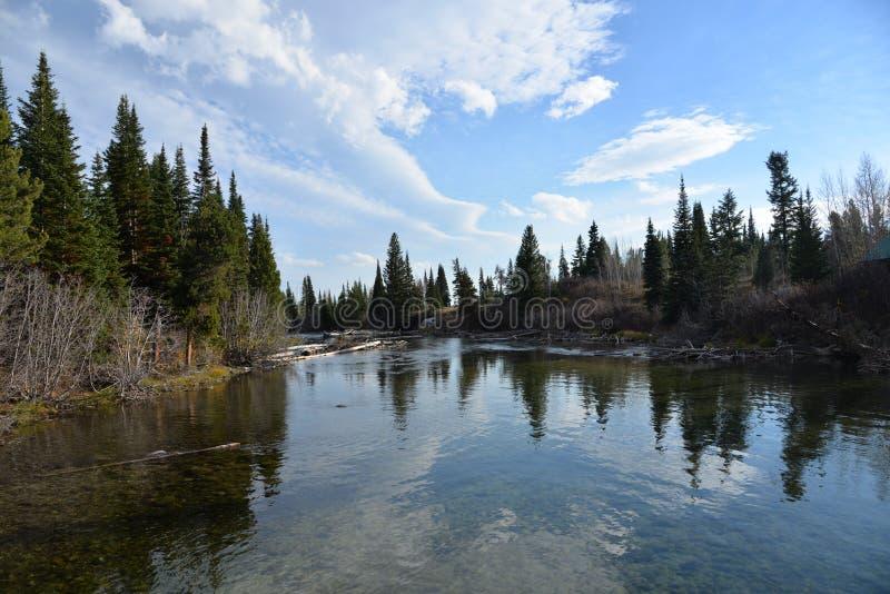Το μεγάλο εθνικό πάρκο Teton είναι μια φυσική κατάπληξη με τις θεαματικές περιοχές που βλέπουν στοκ εικόνες