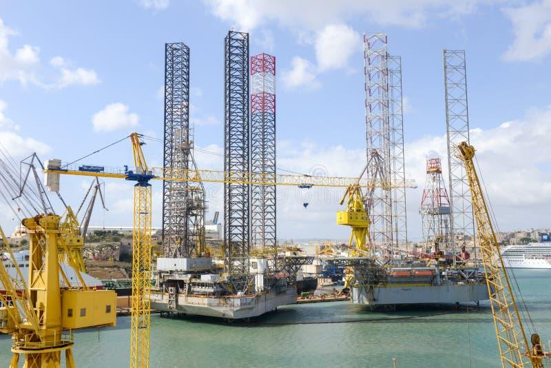 Το μεγάλο λιμάνι Vittoriosa στη Μάλτα στοκ εικόνες