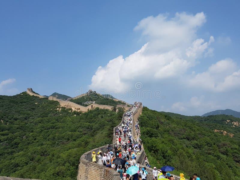 Το Μεγάλο Τείχος στο Πεκίνο, Κίνα στοκ εικόνα με δικαίωμα ελεύθερης χρήσης