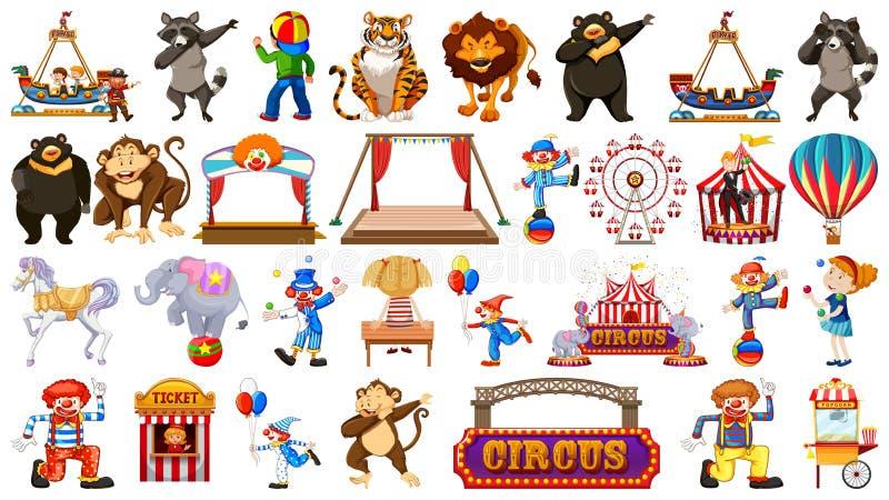 Το μεγάλο τσίρκο το σύνολο διανυσματική απεικόνιση