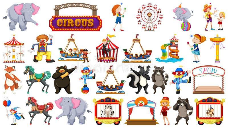 Το μεγάλο τσίρκο το σύνολο ελεύθερη απεικόνιση δικαιώματος