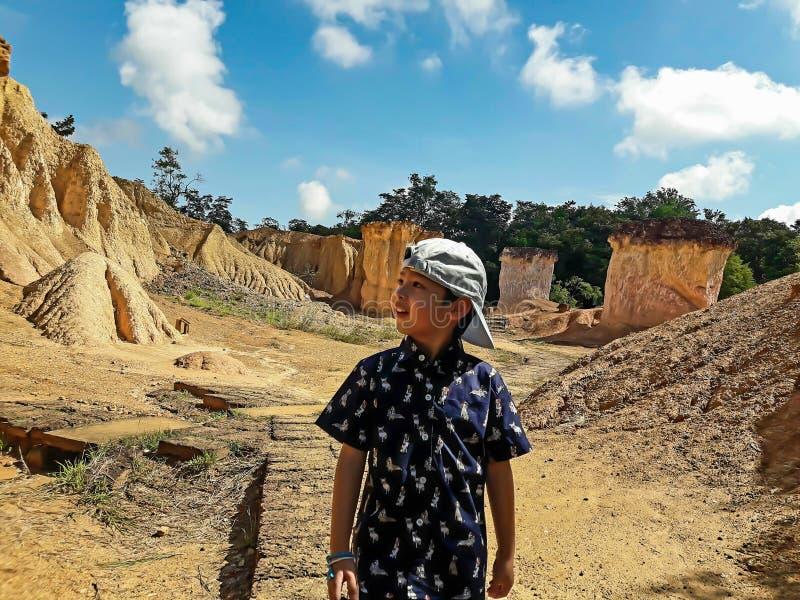 Το μεγάλο φαράγγι της Ταϊλάνδης ήταν γνωστό ως Phi Phae Mueang, Phrae στοκ εικόνα με δικαίωμα ελεύθερης χρήσης