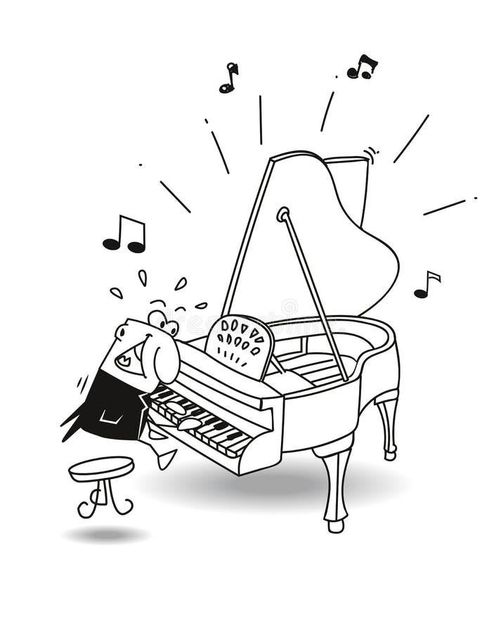 Το μεγάλο pianist απεικόνιση αποθεμάτων