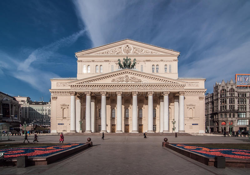 Το μεγάλο θέατρο στη Μόσχα, Ρωσία στοκ φωτογραφία