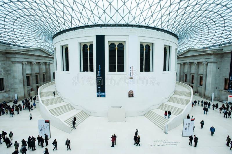 Το μεγάλο δικαστήριο στο βρετανικό μουσείο στο Λονδίνο στοκ φωτογραφία με δικαίωμα ελεύθερης χρήσης