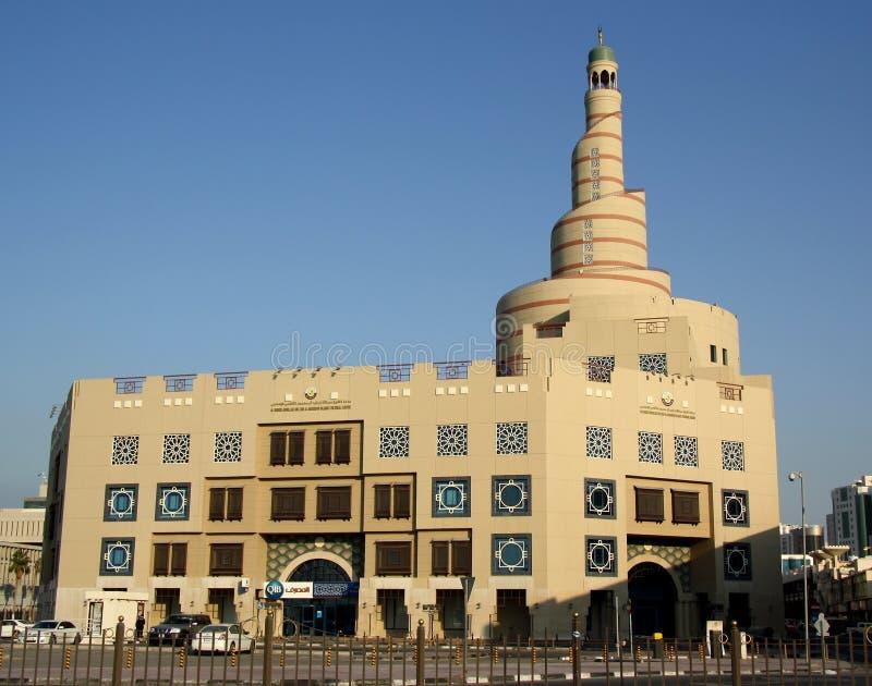 Το μεγάλο μουσουλμανικό τέμενος και το πολιτιστικό κέντρο σε Doha (Κατάρ) στοκ εικόνες με δικαίωμα ελεύθερης χρήσης