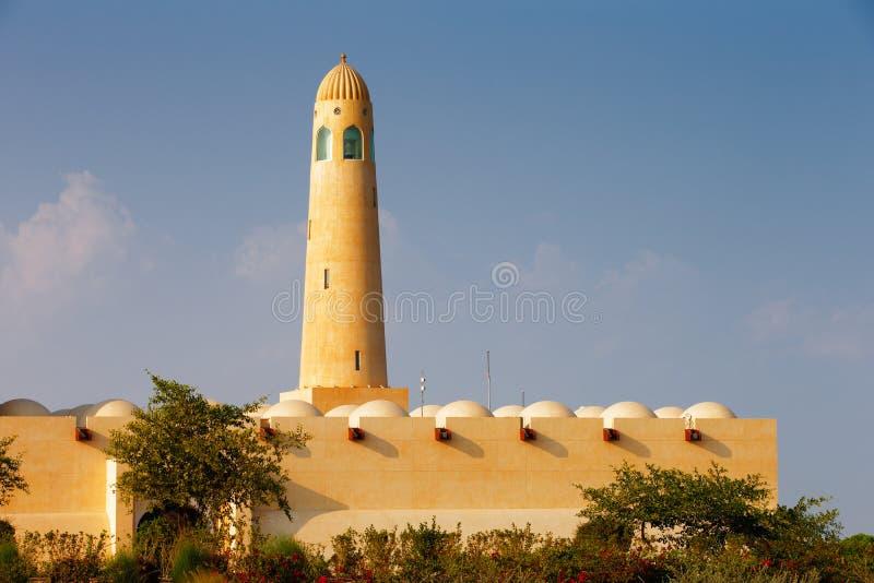 Το μεγάλο μουσουλμανικό τέμενος Doha, Κατάρ στοκ εικόνα με δικαίωμα ελεύθερης χρήσης