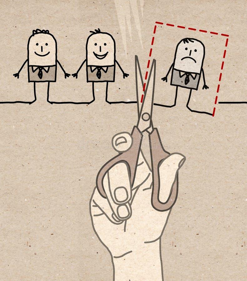 Το μεγάλο χέρι - που κόβει και αποβάλλει ελεύθερη απεικόνιση δικαιώματος
