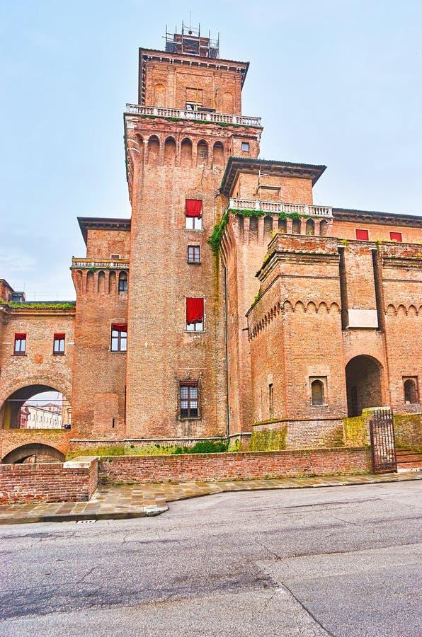 Το μεσαιωνικό κάστρο στη φερράρα, Ιταλία στοκ φωτογραφίες με δικαίωμα ελεύθερης χρήσης