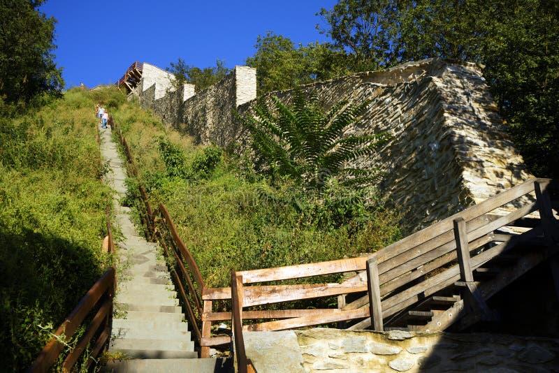 Το μεσαιωνικό φρούριο Deva, νομός Hunedoara, Ρουμανία στοκ εικόνα με δικαίωμα ελεύθερης χρήσης