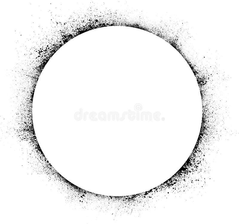 Το μελάνι κύκλων λεκιάζει το υπόβαθρο διανυσματική απεικόνιση