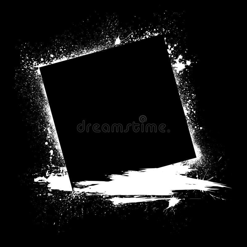 Το μελάνι Grunge λεκιάζει το Μαύρο απεικόνιση αποθεμάτων