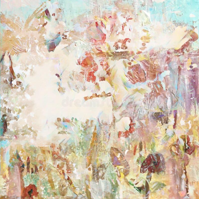 Τολμηρό βρώμικο στενοχωρημένο καλλιτεχνικό χρωματισμένο υπόβαθρο κολάζ ελεύθερη απεικόνιση δικαιώματος