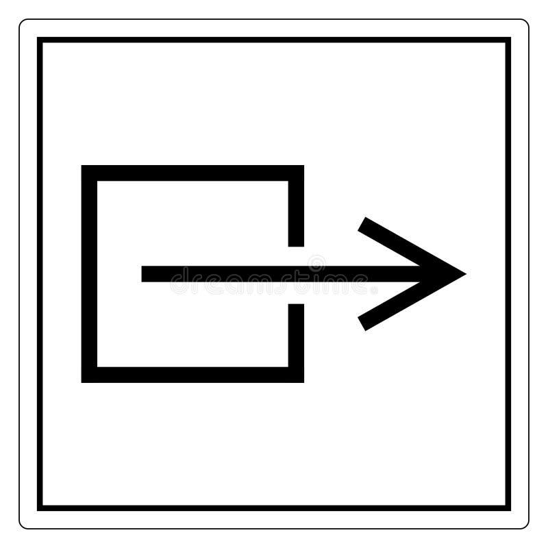 Το μη ηλεκτρικό σημάδι συμβόλων εξόδων παραγωγής, διανυσματική απεικόνιση, απομονώνει στην άσπρη ετικέτα υποβάθρου EPS10 απεικόνιση αποθεμάτων